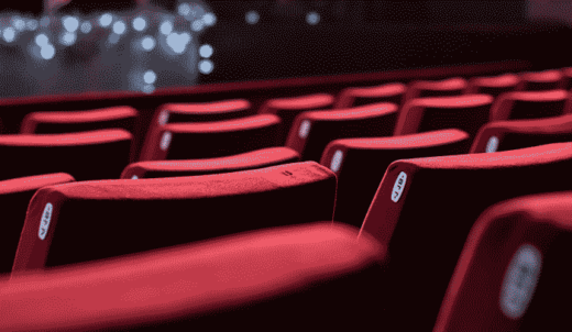 poltrone rosse del cinema